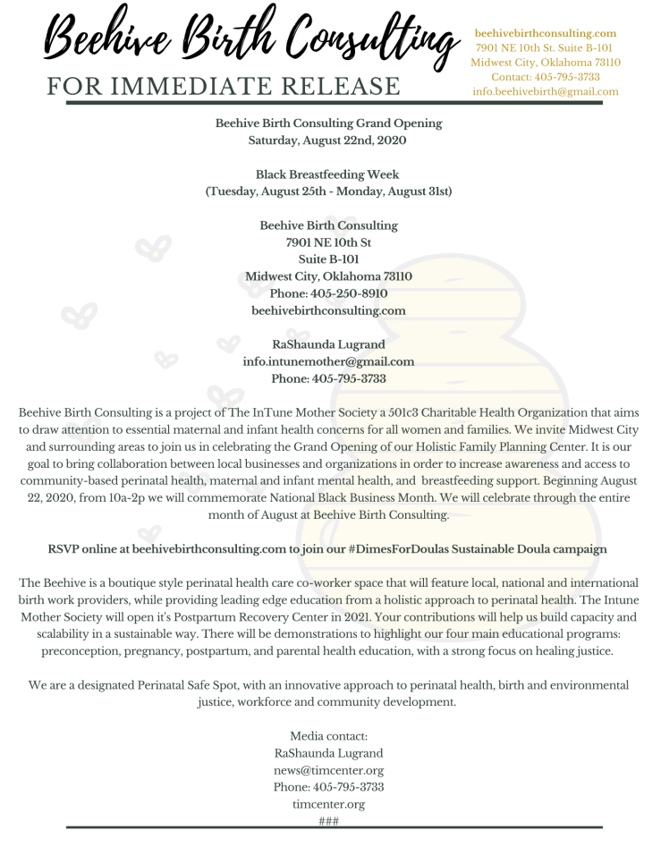 Beehive Birth Press Release.png